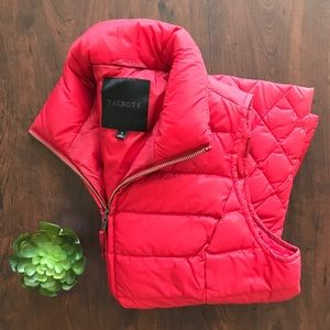 Red Talbots Puffy Vest, size small